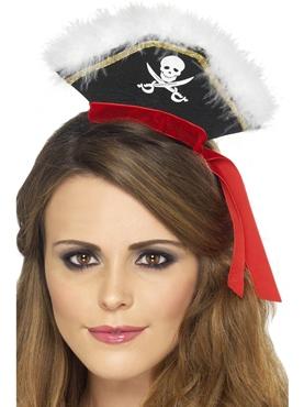 Mock Pirate Hat on Headband