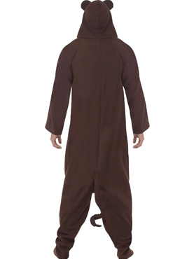 Adult Monkey Onesie Costume - Back View