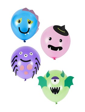 Monster Tableware Party Balloons