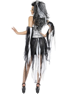 Adult Monster's & Mummies Bride Costume - Side View