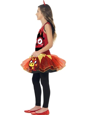 Child Moshi Monsters Diavlo Costume - Back View