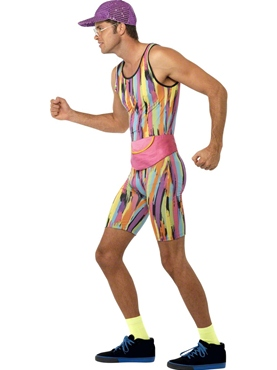 Adult Mr Motivator Costume - Back View