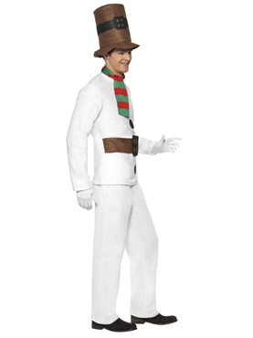 Adult Mr Snowman Costume - Back View