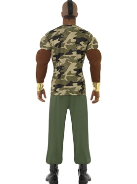 Adult Mr T Premium Camouflage Costume - Side View