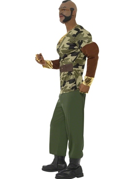 Adult Mr T Premium Camouflage Costume - Back View