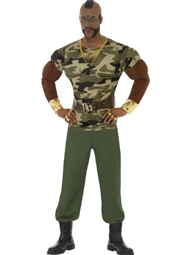 Adult Mr T Premium Camouflage Costume