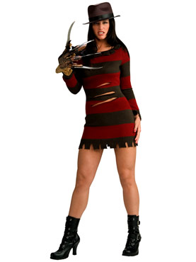 Adult Ms. Freddy Krueger Halloween Costume