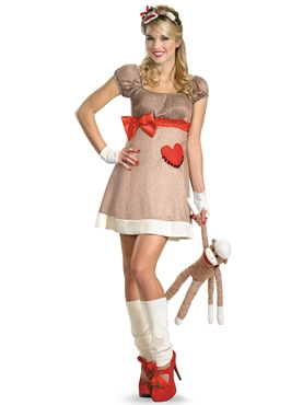 Adult Ms. Sock Monkey Costume