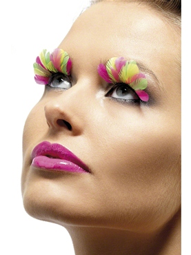Multi Coloured Feather Eyelashes