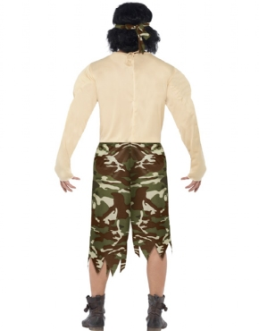 Adult Muscleman Soldier Costume - Side View