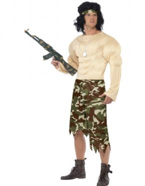 Adult Muscleman Soldier Costume