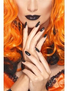 Black Nail Polish & Lipstick Set