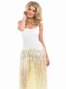 Adult Natural Look Grass Hawaiian Skirt - Side View