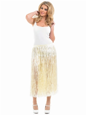 Adult Natural Look Grass Hawaiian Skirt