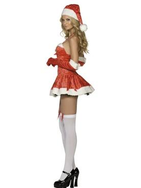 Naughty Miss Santa Costume - Side View
