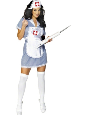 Adult Naughty Nurse Costume - Back View