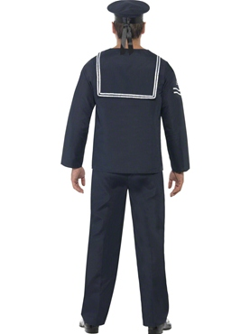 Adult 1940's Naval Seaman Costume - Side View
