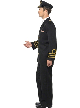 Adult Navy Officer Costume - Back View