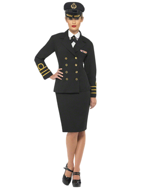 Adult Navy Officers Costume Couples Costume
