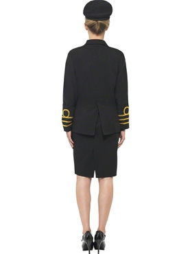 Adult Navy Officers Costume - Side View
