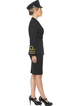 Adult Navy Officers Costume - Back View