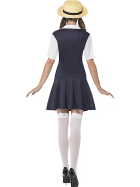 Adult Navy School Girl Costume - Side View