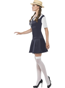 Adult Navy School Girl Costume - Back View