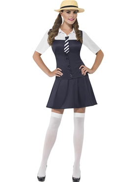 Adult Navy School Girl Costume