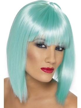 Neon Aqua Glam Wig