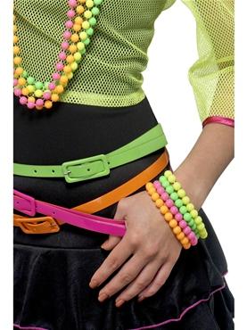 Neon Beaded Bracelets