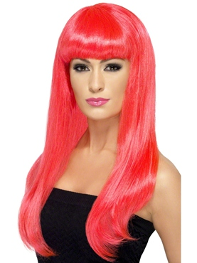 Neon Pink Babelicious Wig