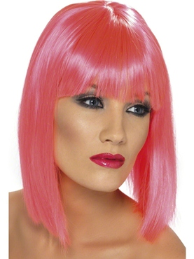 Neon Pink Glam Wig