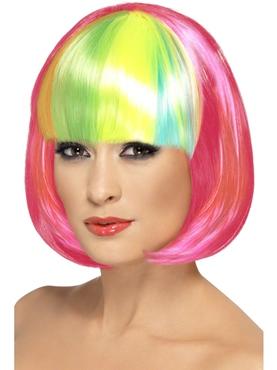 Neon Pink Partyrama Wig