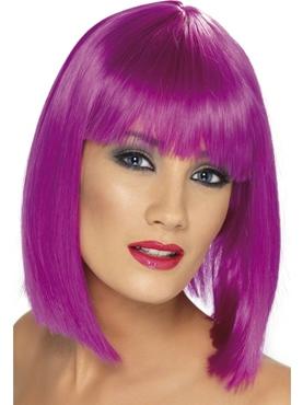 Neon Purple Glam Wig