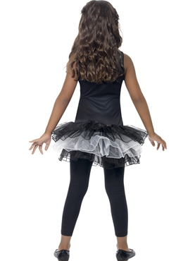 Child Skeleton Tutu Costume - Side View