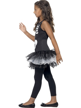 Child Skeleton Tutu Costume - Back View