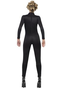 Adult Neon Skeleton Jumpsuit Costume - Side View