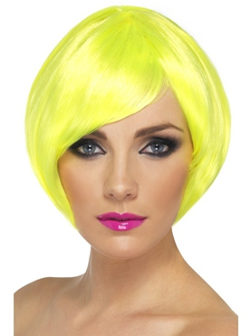 Neon Yellow Babe Wig