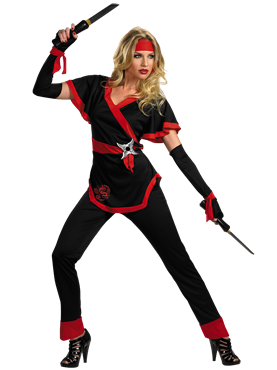 Adult Ninja Dragon Lady Costume Couples Costume
