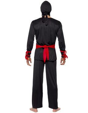 Adult Ninja Warrior Costume - Back View