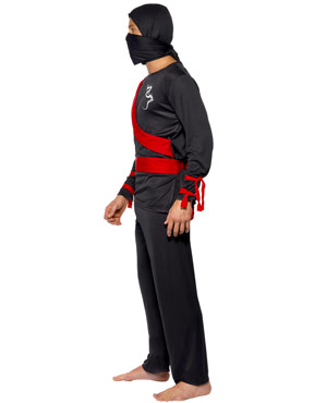 Adult Ninja Warrior Costume - Side View