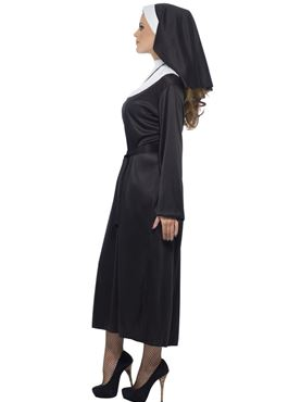 Adult Nun Costume - Back View