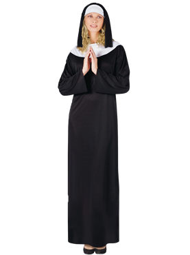 Adult Nun Costume Couples Costume