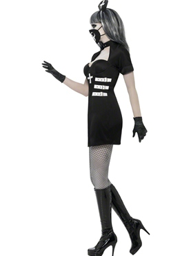 Adult Nurse Delirium Costume - Back View