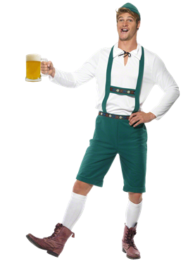 Adult Oktoberfest Beer Man Costume Couples Costume
