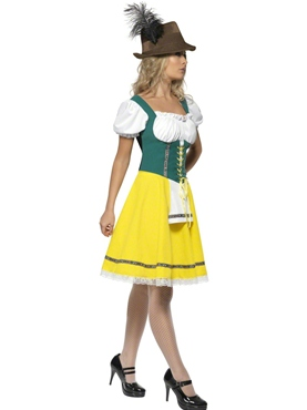 Adult Oktoberfest Ladies Bavarian Costume - Side View