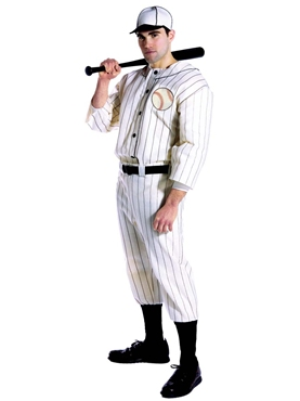 Adult Old Tyme Baseball Player Costume Couples Costume