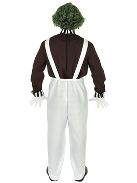 Adult Oompa Loompa Factory Worker Costume with Wig - Side View