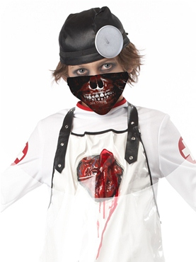 Child Open Heart Surgeon Costume - Back View