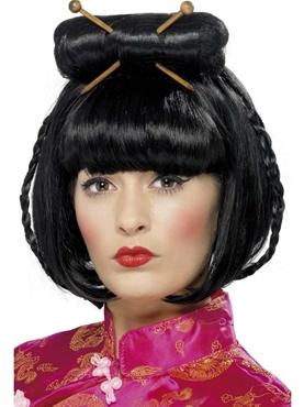 Oriental Lady Black Wig